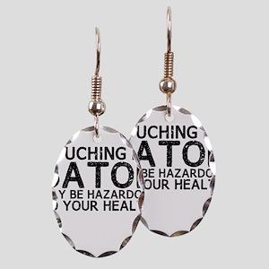 Baton Hazard Earring Oval Charm