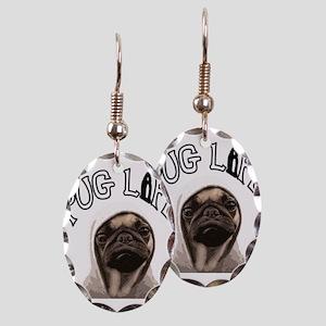 Pug Life Earring Oval Charm