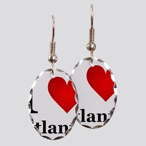 I Love Atlanta Earring Oval Charm