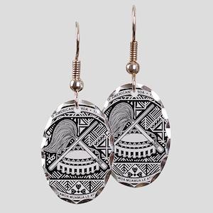 American Samoa Coat Of Arms Earring Oval Charm