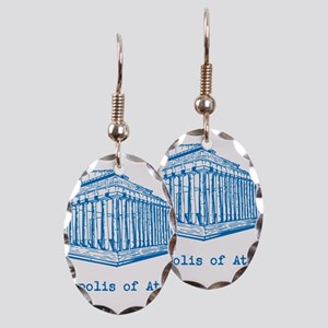 Acropolis of Athens Earring Oval Charm
