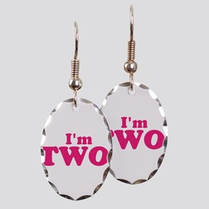 Im Two Second Birthday Earring Oval Charm