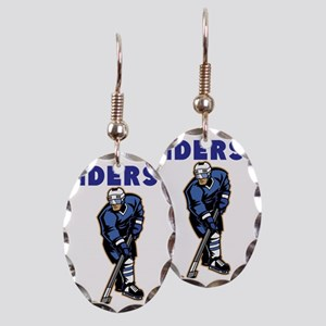 Personalized Hockey Earring Oval Charm
