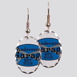 Personalized Garage Earring Oval Charm