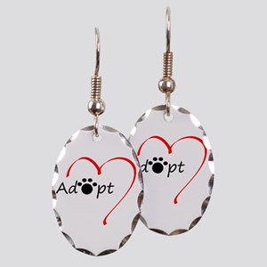 Adopt Earring Oval Charm