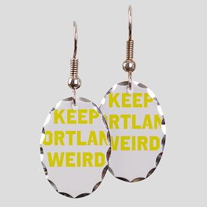 Keep Portland Weird Earring Oval Charm