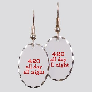 4:20 all day all night Earring Oval Charm