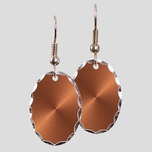 Copper Earring Oval Charm