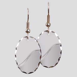 Light Wave Abstract Earring Oval Charm