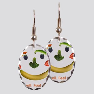 Healthy Diet Earring Oval Charm