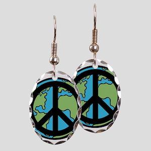 Peace on Earth in Black Earring
