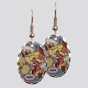 Vintage Western cowgirl collage Earring