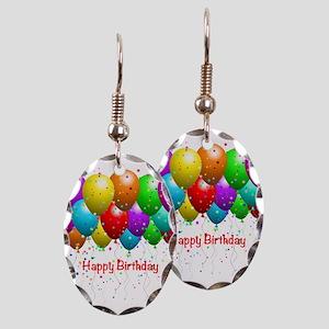 Happy Birthday Balloons Earring