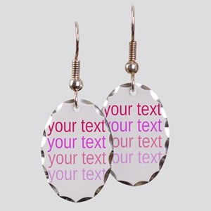 shades of pink text Earring