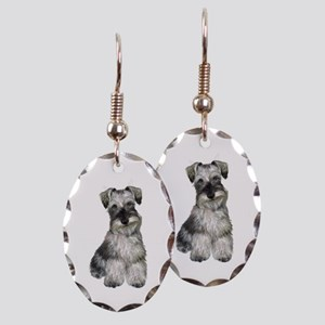 Schnauzer (natural 2) Earring Oval Charm