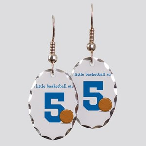 Basketball Star Custom Age Earring Oval Charm