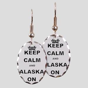 KEEP CALM AND ALASKA ON Earring