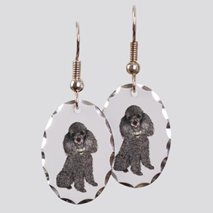 Poodle (sivler) Earring Oval Charm