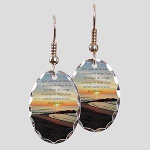 SERENITY PRAYER Earring Oval Charm