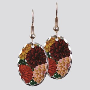 modern vintage fall dahlia flowers Earring