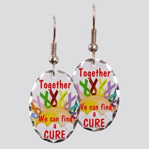 Together we can find a cure Earring