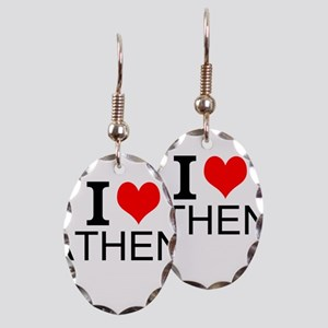 I Love Athens Earring