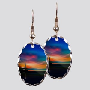 Sunrise Over The Sea And Lighthouse Earring