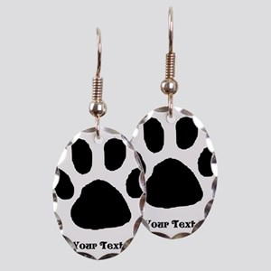 Paw Print Template Earring