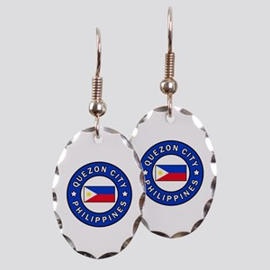 Quezon City Philippines Earring Oval Charm