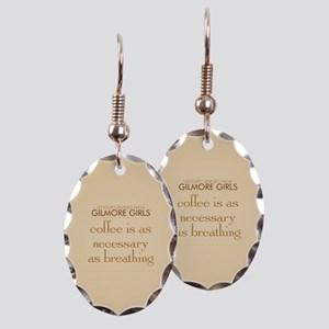 Coffee is Necessary Earring Oval Charm