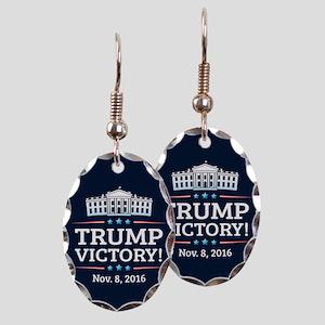 Trump Victory Earring Oval Charm