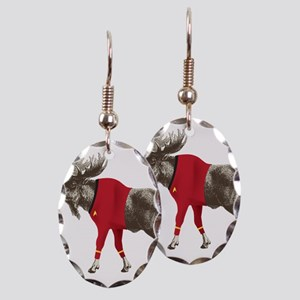 Moose Red Shirt Earring Oval Charm