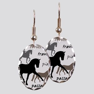 Dressage Movements Trio Earring Oval Charm