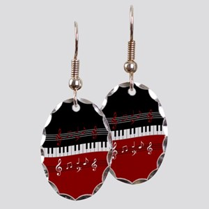 Stylish Piano keys and musical notes Earring