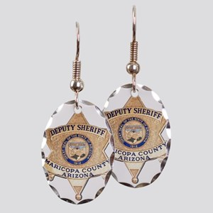 Maricopa County Sheriff Earring Oval Charm