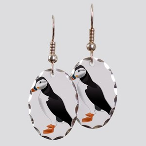 Puffin md Earring Oval Charm