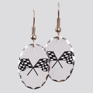 Checkered Flag, Race, Racing, Motorsports Earring