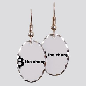 B Be The Change - Bitcoin Earring Oval Charm