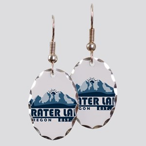 Crater Lake - Oregon Earring Oval Charm