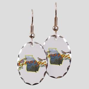 Georgia Earring Oval Charm