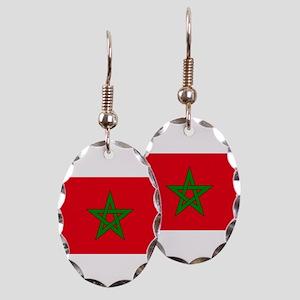 moorish flag, morocco glag, mor Earring Oval Charm