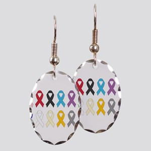 Awareness Ribbons Earring Oval Charm