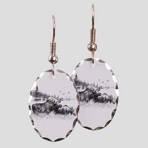 Moose Earring Oval Charm