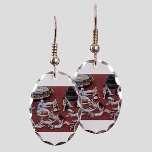 vintage 1920s flapper dolls Earring Oval Charm