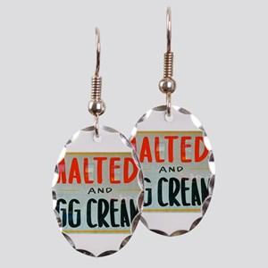 NYC: Malteds and Egg Creams Earring Oval Charm