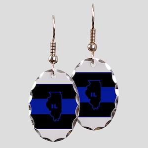 Thin Blue Line Illinois Earring