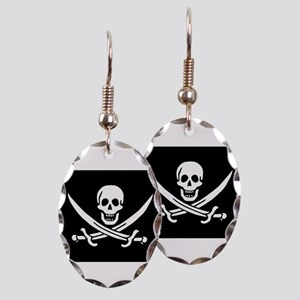 Calico Jack Rackham Jolly Rog Earring Oval Charm