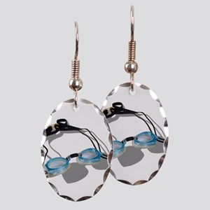 SwimmingGoggles091210 Earring Oval Charm