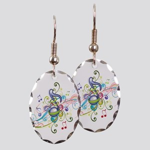 Music in the air Earring Oval Charm