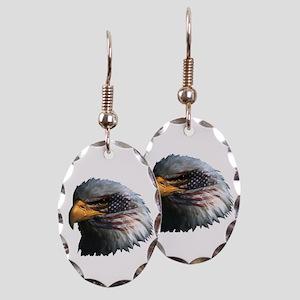 USA Eagle Earring Oval Charm